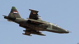 الجو يدمر مواقع لداعش الإرهابي في جزيرة سامراء