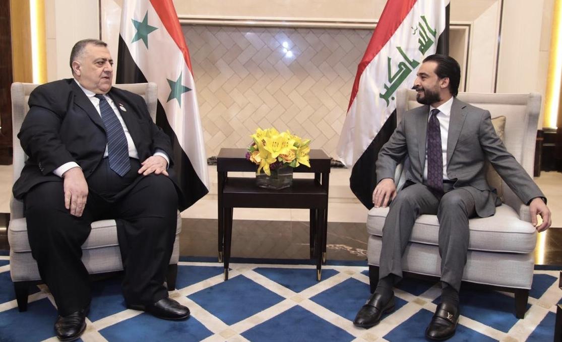 الحلبوسي يلتقي نظيره السوري