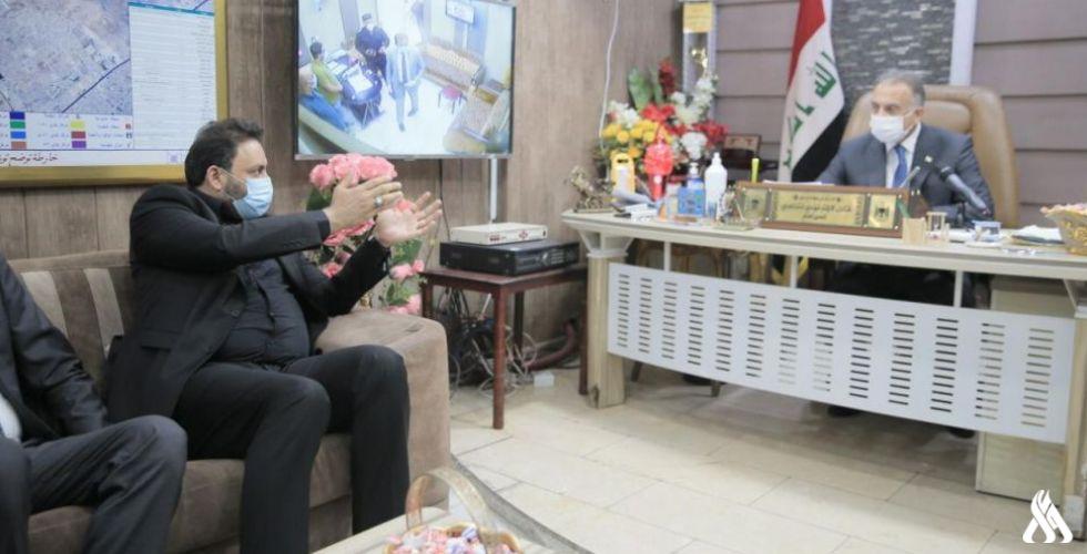 الكاظمي يعد بتخصيص مبالغ كافية لزيادة الخدمات البلدية لمدينة الصدر