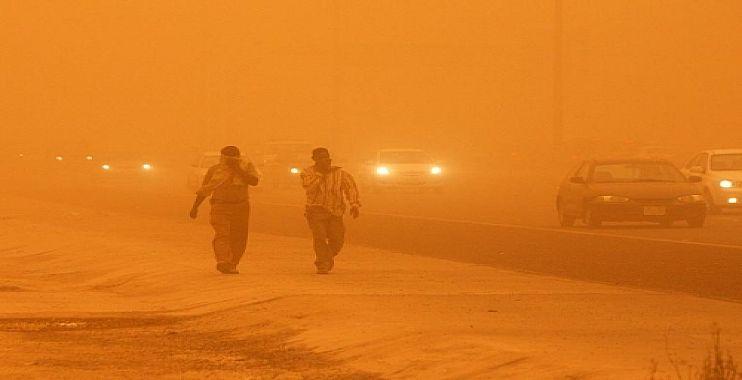 عواصف ترابية تضرب العراق يومي السبت والأحد المقبلين
